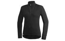 Woolpower Zip Turtleneck 200 sous vetement sport noir